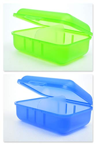 Buchsteiner Brotdosen grün+blau