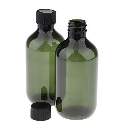 2 Pack Leere Kosmetikflasche für Shampoo, Conditioner, Lotion, Feuchtigkeitscreme Tagescreme, aus...