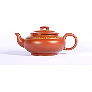 China Yixing Teapot Traditional Handmade Zisha Teapot Household Teapot Perfect Gift Collection Teapot:Amedama