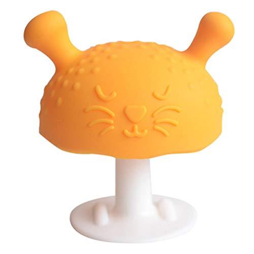 Dacyflower Mimi der Pilz super weiches Silikon, Baby beruhigendes Beißring Spielzeug, Schnuller Beißer Pilz Beißring Spielzeug zum Saugen Ziehen braucht gestillte Babys enhanced