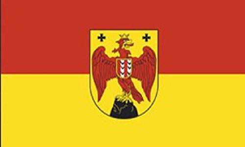 Flagge/Fahne BURGENLAND mit Wappen Staatsflagge/Landesflagge/Hissflagge mit Ösen 150x90 cm, gute Qualität