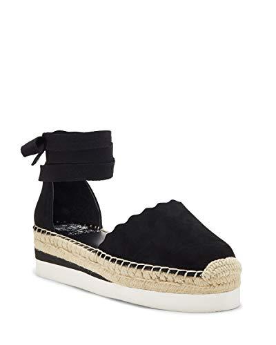 Vince Camuto Brittie Flat Wrap Sandal, Sandalias Planas para Mujer, Negro, 37.5 EU