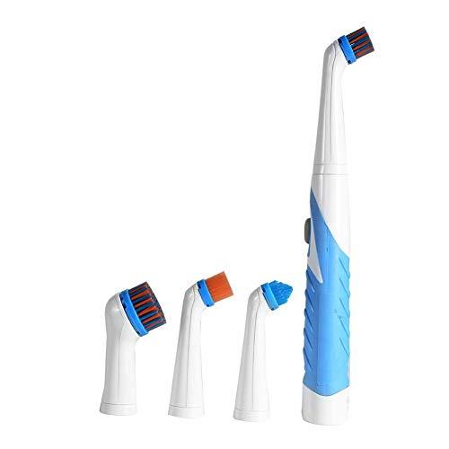 lamta1k 4 In 1 Elektrische Reinigungsbürste Reinigungswerkzeug Elektrische Handwäscher Reinigungsbürste Haushalt Küche Cleaner Tool Blau
