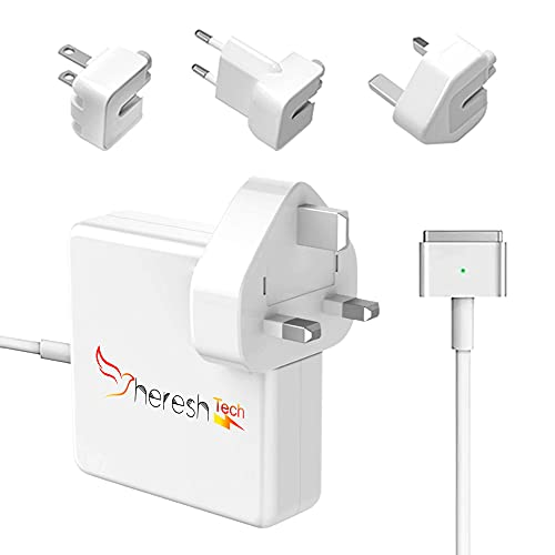 Compatible SHERESHTECH Macbook Pro Charger Macbook Air Charger 60W With 3 Plugs Included (US/UK/EU) - 60W Magsafe 2 charger for Mac Book Pro/Air (Late 2012, 2013, 2014, 2015, 2017 2018)