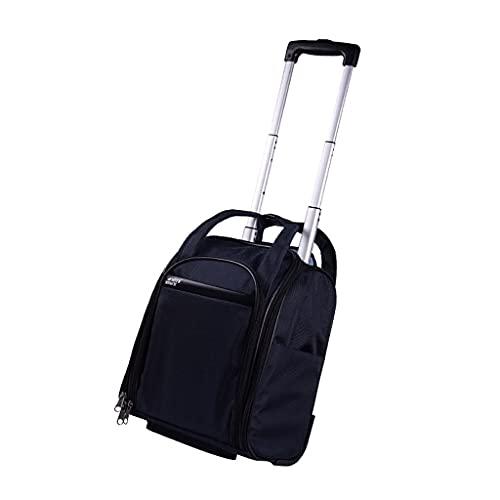 RTTzj Carretilla Viajes Mini Bolso de la Carretilla con Ruedas Maleta de Gran Capacidad Puede ser embarcados Trips For Business Corta Distancia Luz Bolsa de Negocios 31 * 21 * los 37CM (Color : D)