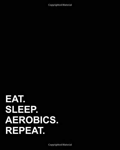 Eat Sleep Aerobics Repeat: Blank Guitar Tab Paper, Guitar Tab Paper - 6 string guitar TAB clef - Blank Music Paper / Music Sheet Reader