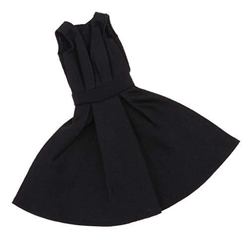 HomeDecTime para Muñecas de Niña de 12 Pulgadas Vestido Accesorio de Muñeca de Moda Niña Negro