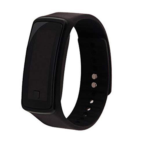 mode siliconen gel led polshorloge armband unisex heren dames polsband zwart