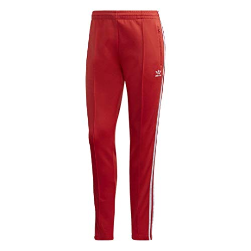 adidas Originals Women's Super Women Track Pants, Lush Red/White, S