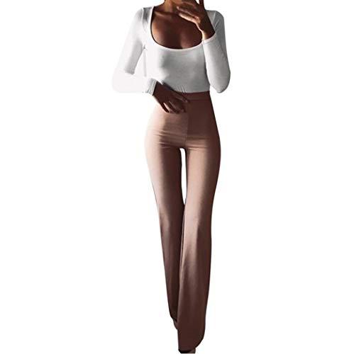 TUDUZ - Yoga-Hosen für Damen in Khaki, Größe S