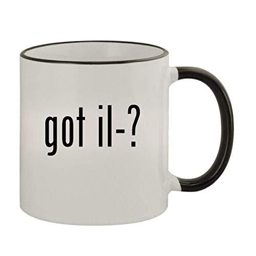 got il-? - 11oz Ceramic Colored Rim & Handle Coffee Mug, Black