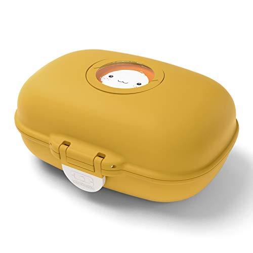 monbento - MB Gram gelb Moutarde Snackbox Kinder - Individuell Gestaltbar - BPA frei
