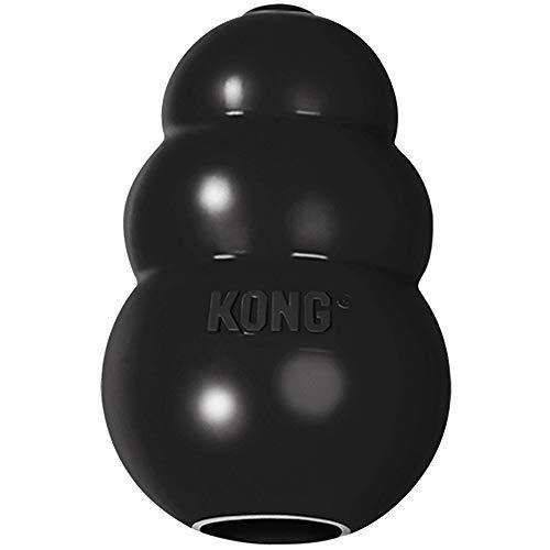 KONG - Extreme Dog Toy - Caoutchouc Naturel Robuste, Noir - Jouet à Mordre, Chasser et Rapporter - pour Chien XXL