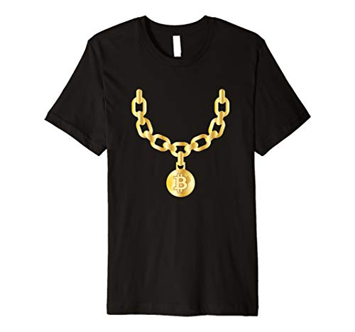 Bling Bling Bitcoin Gold Chain Funny CryptoCurrency Premium T-Shirt