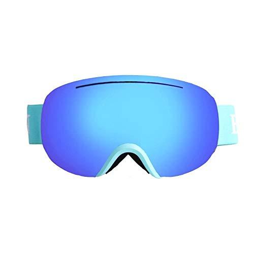 Generieke skibril voor volwassenen, groot, bolvormige, tweelaagse, winddichte anti-condens-skibrillen kunnen één bril dragen