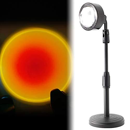 Lámpara de proyección, lámpara LED de noche, arcoíris, luz giratoria, dormitorio iluminado, noche romántica
