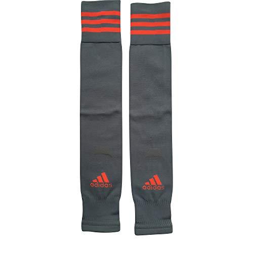 Calcetines de fútbol Adidas sin pies, color gris