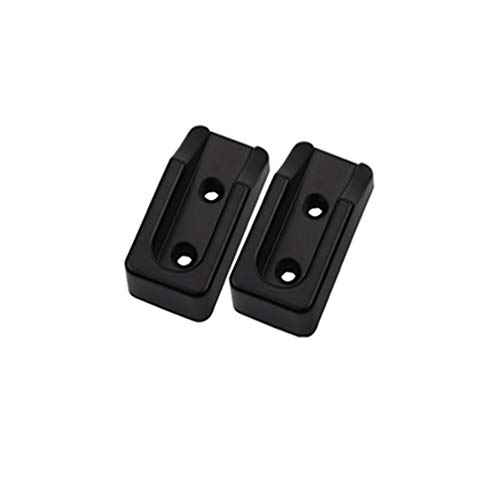 Weisin 16MM Adjustable Round Wardrobe Hanging Rail Rod End Bracket Support Stainless Steel Tone,Black