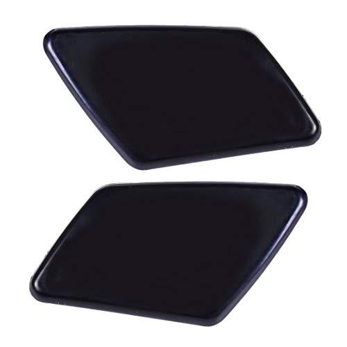 Zwarte Bumper Koplamp cover Links Rechts Flap Nozzle Voor VOLVO S40 V50 05-07 Cap