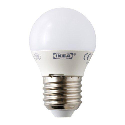 Ikea LEDARE LED Lampe E27; rund; in opalweiß; 200 Lumen