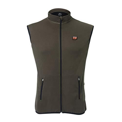 30seven, gilet riscaldabile con 2 batterie, caldo abbigliamento per attività all'aperto, giacca traspirante con taglio regular Fit, per uomo e donna, multicolore in XS – 3XL (kaki, XS)