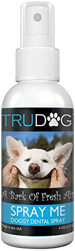 Dog Breath Freshener  Spray Me: Doggy Dental Spray 4Oz  All Natural Ingredients That Freshen Breath While Reducing Dental Plaque And Tartar BuildUp Without Brushing  Veterinarian Approved