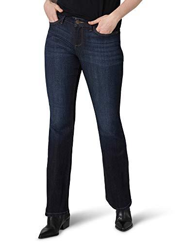 Lee Women's Misses Secretly Shapes Regular Fit Bootcut Jean, Nightshade, 16 Long