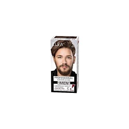 Elea Men Professional Color & Care Crema sin de amoníaco para hombres, cabello, barba y bigote 100ml (Marrón claro 5.0)