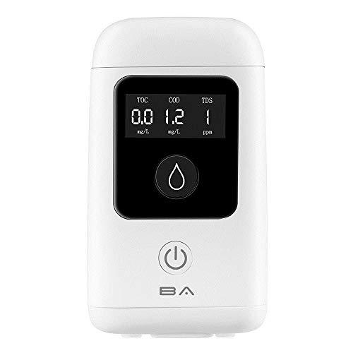 Contactsly PH Sensor Messgerät 3 in 1 TDS/TOC/CSB Wasserqualität Detektor Wasser Reinheit Elektro-Tester Messgerät (Farbe : Weiß, Größe : Einheitsgröße)