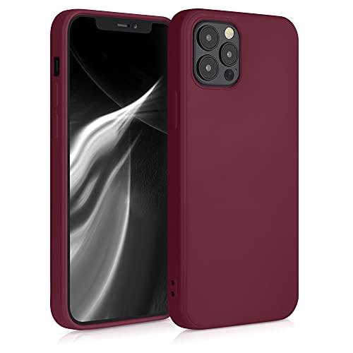 kwmobile Hülle kompatibel mit Apple iPhone 12/12 Pro - Hülle Handy - Handyhülle in Rhabarber Rot