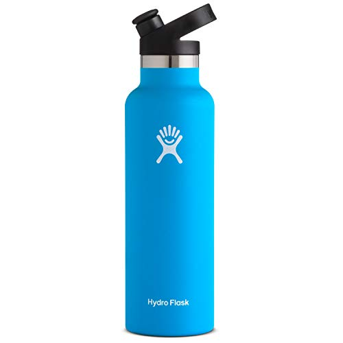 Hydro Flask Stainless Steel Vacuum Insulated Sports Water Bottle with Cap, Pacific, 21 Ounce