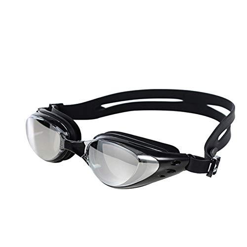 Kalaokei Unisex Schwimmbrille, Anti-Beschlag, UV-Schutz, Schwimmbrille Einheitsgröße Schwarz