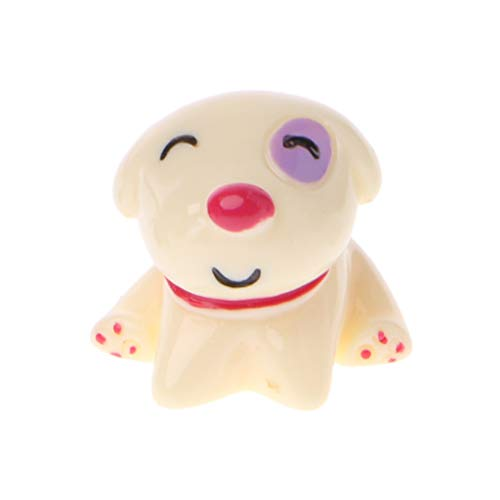 Rongzou bloempot, schattig hars hond figuur miniatuur ornament pop speelgoed poppenhuis Bonsai 3 kleur voor tuin huisdecoratie As the picture shown Zoals afgebeeld 5