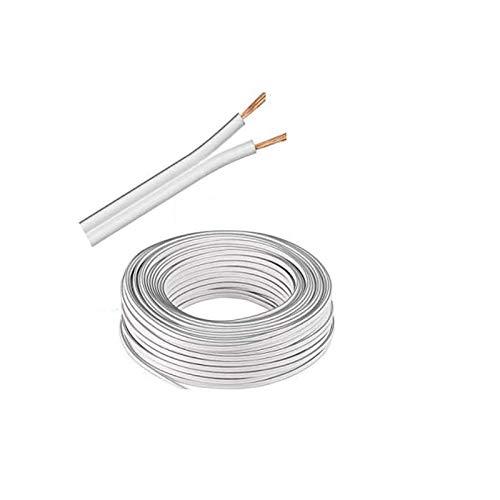 (0,5€/m) 5m LED Kabel Zwillingslitze 2x 0,50mm² Weiß 2-adrig, LED Leitung, 100% Kupfer!