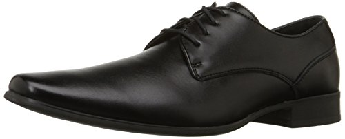 Calvin Klein Men's Brodie Oxford Shoe, Black Burnished Dress Calf, 10 M US