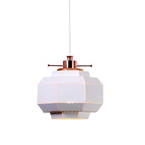 Lightoray Suspension Luminaire 1 fer blanc feux suspendus réglables sur le fil 100cm Diamètre 26 * 28cm E27 Plafonnier Eclairage Lustre pour Cuisine Chambre Salle à Manger Salon Escalier Restaurant