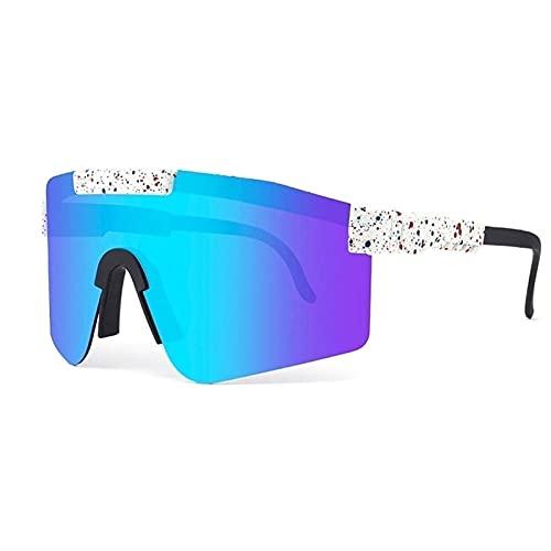 Gafas de sol deportivas para hombres y mujeres, gafas Sport Gafas de sol Gafas de sol polarizadas Gafas de sol de ciclismo al aire libre Eviertas a prueba de viento Sombras Anti-UV para Frame TR90