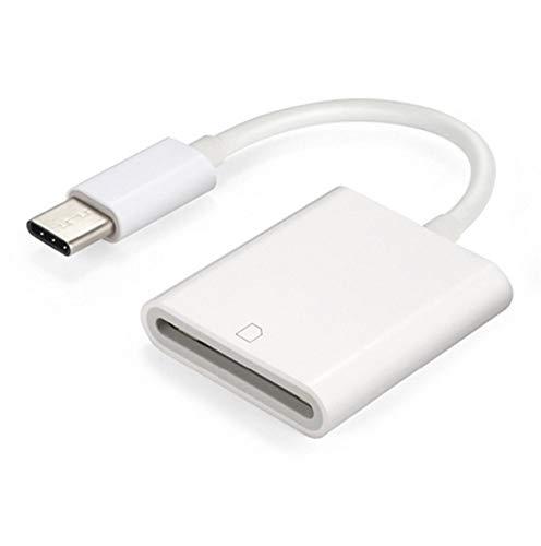 OocciShopp Lector de Tarjetas Tipo C, USB-C USB3.1 Type-C a Lector de Tarjetas SD con Lectura de línea Lector de Tarjetas SD Lector de Tarjetas SD para teléfonos móviles (Blanco)