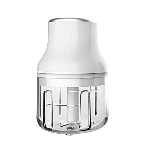Electric Mini Multi-function Chopper Processor, Food Garlic Vegetable Grinder for Meat, Fruits and Nuts (L, White)