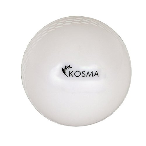 Kosma Wind Ball Cricket Ball | Soft Training Ball | Indoor/Outdoor Praxis Kugel - Weiß