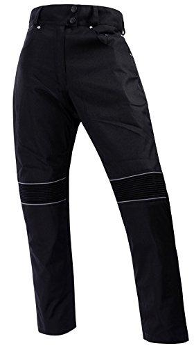 Bangla Damen Hose Motorradhose Textil im Jeanslook mit Protektoren 501 Schwarz S
