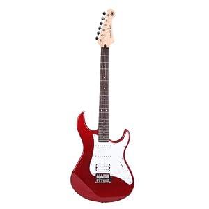 Yamaha Pacifica 012 Chitarra Elettrica – Chitarra 4/4 in Legno (64,77 cm, scala da 25,5″) – 6 Corde, Selettore Pickup a 5 posizioni, Bianco Vintage – rosso-metallico