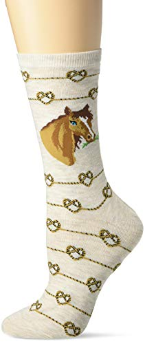 K. Bell Socks - Calcetines para mujer, Caballo de nudo del amor (avena Heather), Shoe Size: 4-10