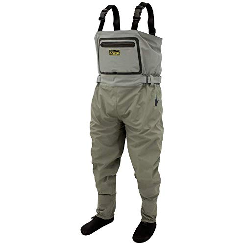 FROGG TOGGS Men's Sierran Conversion Stockingfoot, Convertible Hip and Chest Wader in One, Beige/Khaki, XX-Large