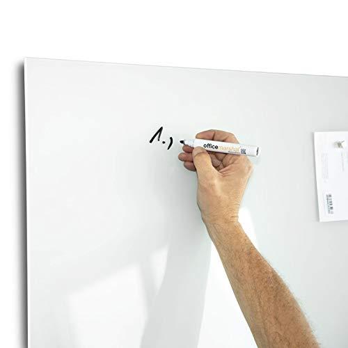 Glas-Whiteboard   Arte   Premiumweiß   Sicherheitsglas   Rahmenlos mit Schwebe-Effekt   Magnethaftend (120 x 180 cm) - 5