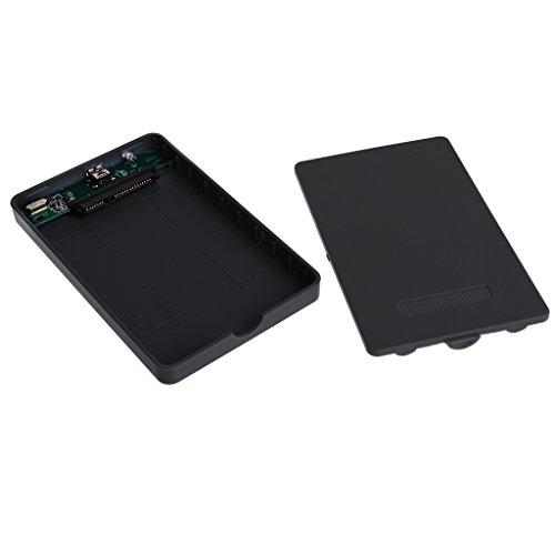 #N/A SATA Laptop 2.5 'USB 2.0 External Hard Drive Enclosure Case Cover Incl. - Black