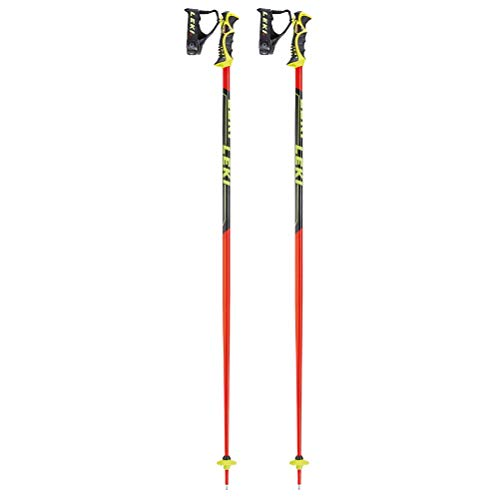 LEKI Erwachsene Worldcup Racing SL Skistöcke, Red/Black/Yellow, 110