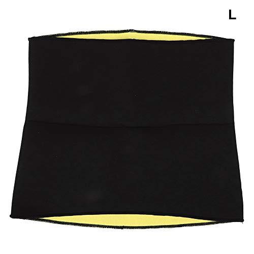 WLH Cinturilla para Adultos Deportes Yoga Fitness Cuerpo Adelgazamiento Sudor Cintura Abdomen Cinturones De Fijación L