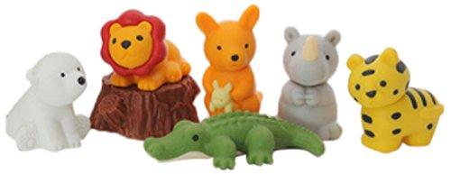 Ty Iwako Eraserz - Set de Figuras de Animales de Safari