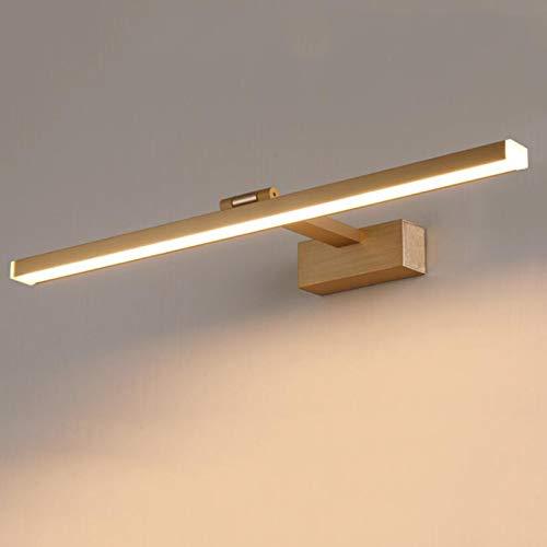 LIMIAO Luces LED Modernas para lavabos para iluminación de baños 12W Iluminación de Maquillaje Neutral Tres Colores Ajustables Espejo Negro Iluminación Frontal Luz de gabinete,Oro,120cm47.2inch22W